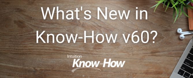 What's New in Know-How v59